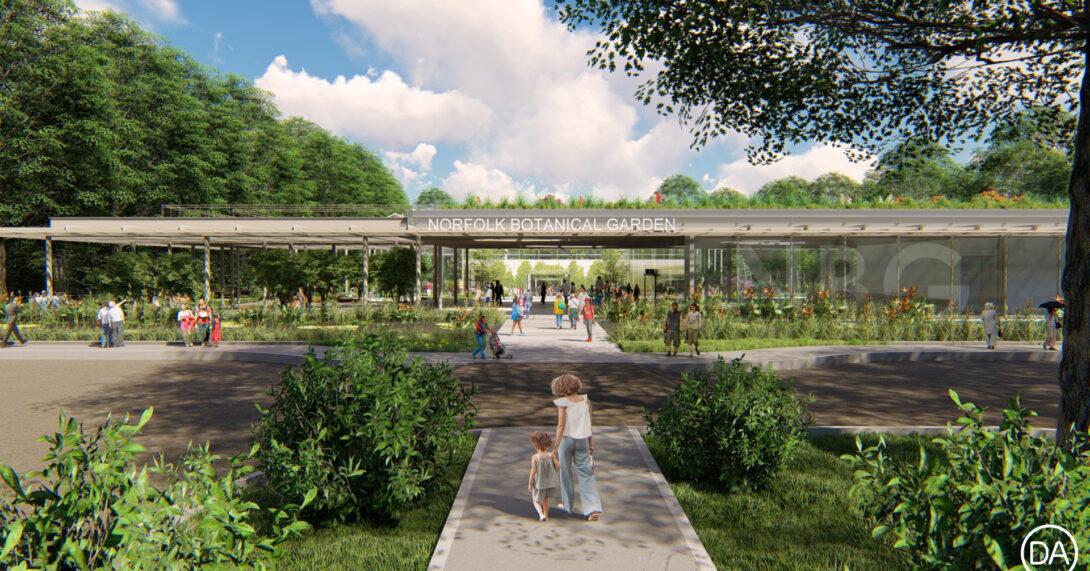 Brock Parking Garden & Brock Entry Pavilion